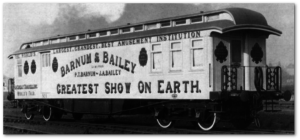 Barnum and Bailey train car