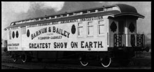 Barnum and Bailey train car