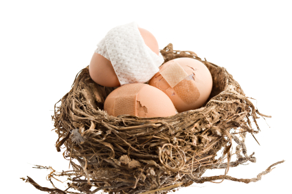 Damaged Nest Eggs