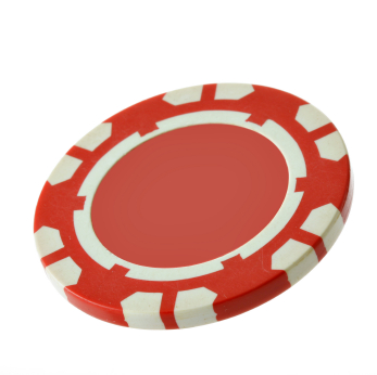 Red casino chip