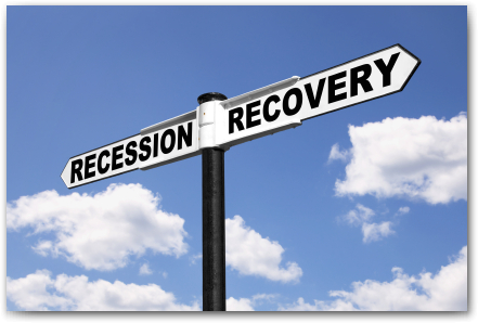 Recession-Recovery-Signpost