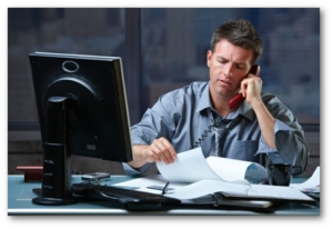 businessman on office telephone