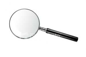 On closer examination, magnifying glass