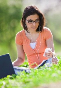 Sitting at their computers or thumbing the keys on their smart phones, the current generation of teens can download or order a world of music, entertainment, games, books and services that either didn't exist a decade ago or at least required the teen to leave the house to purchase.
