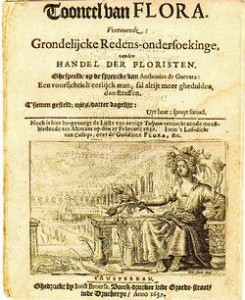 Pamphlet from the Dutch tulipomania, printed in 1637